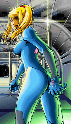 This is the first apperance of the Zero Suit in Metroid: Zero Mission on the GBA.