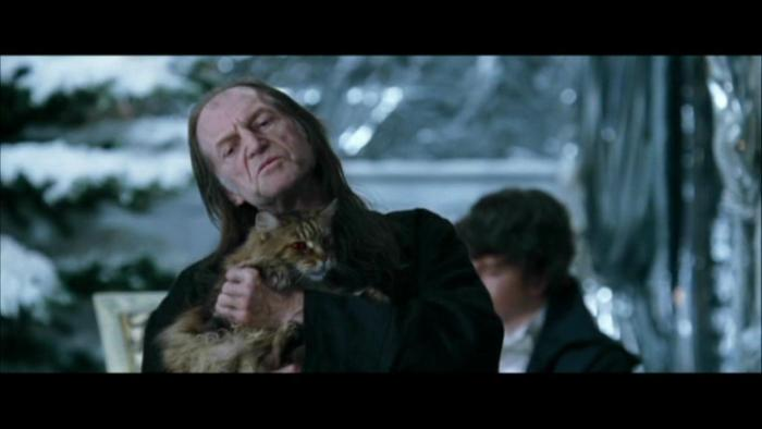 For someone who hates magic people so much it's a bit ironic he owns a magic cat.