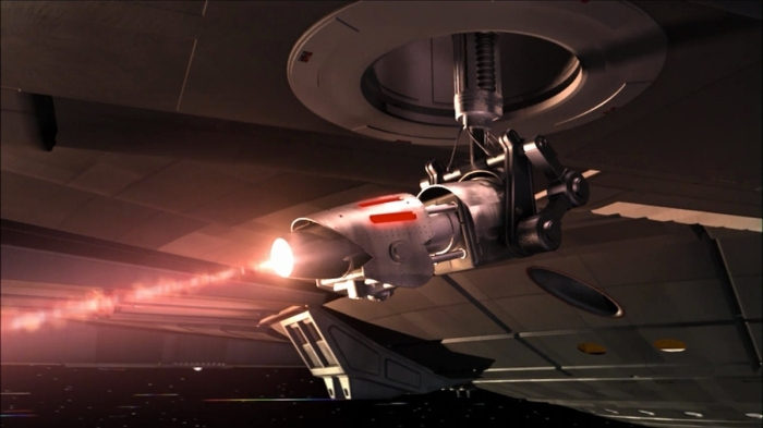 Something like these phase cannons used a while ago on the original Enterprise.