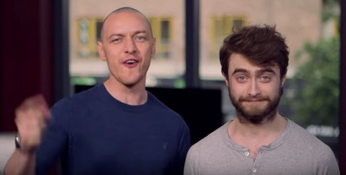 The definition of bloke, or a really young Voldemort and a Harry who has let himself go.
