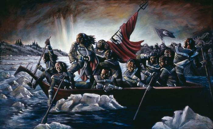 Image courtesy: http://www.deviantart.com/art/Klingons-Crossing-the-Delaware-41612731