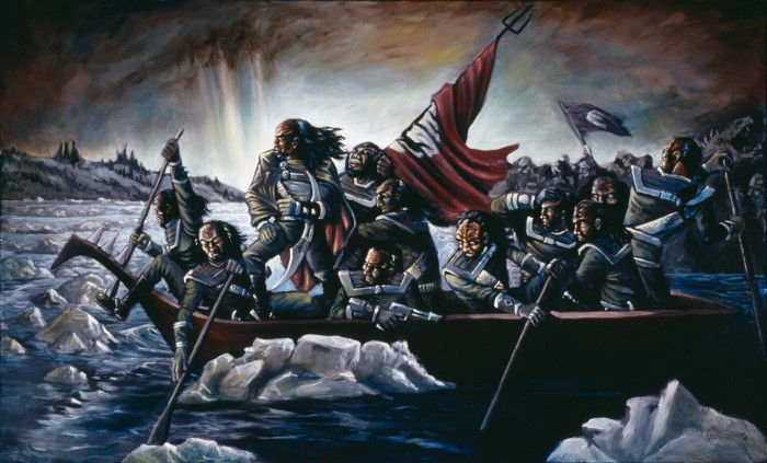 Image courtesy: http://www.deviantart.com/art/Klingons-Crossing-the-Delaware-41612731
