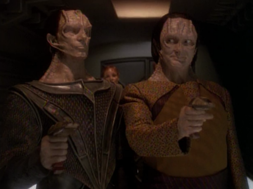 Garak and Ducat are Cardassians with similar aims, but very different methods.