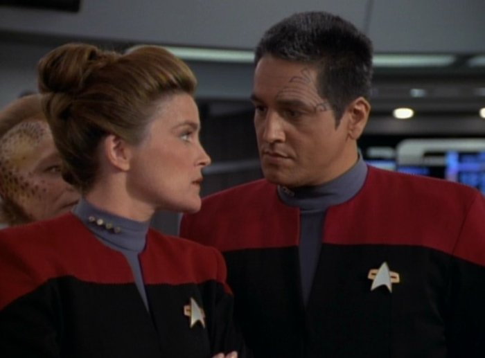 Chakotay is Janeway's Number One, but he's a pretty boring dude.