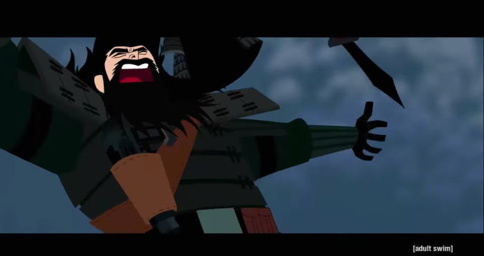 Samurai Jack's new armour doesn't seem to last all too long in the latest season and I don't think it's as easy to mend as a robe.